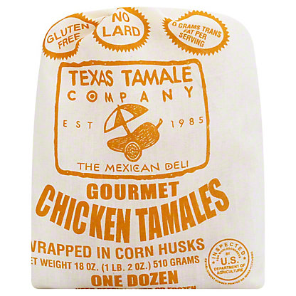 Texas Tamale Company Gourmet Chicken Tamales,12 CT