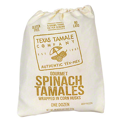 Texas Tamale Company Gourmet Spinach Tamales,12 ct
