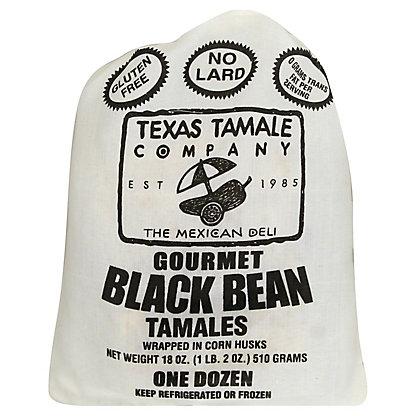 Texas Tamale Company Black Bean Tamales with Cilantro,12 ct