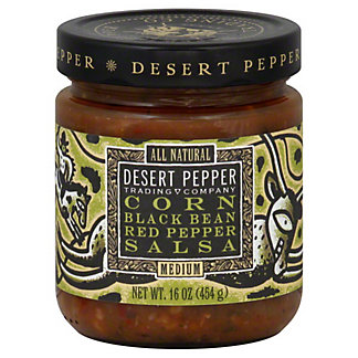 Desert Pepper Corn Black Bean Red Pepper Medium Salsa,16 OZ