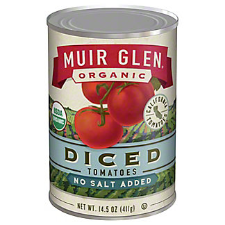Muir Glen Organic Diced Tomatoes No Salt Added,14.5 oz