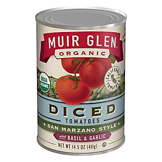 Muir Glen Organic Diced Tomatoes with Basil and Garlic,14.5 oz