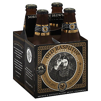 North Coast Old Rasputin Russian Imperial Stout 4 PK Bottles, 12 oz