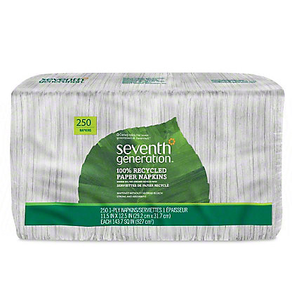 Seventh Generation 100% Recycled Napkins, 250 ct