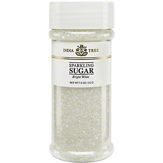 India Tree Sparkling Bright White Sugar,7.5 OZ