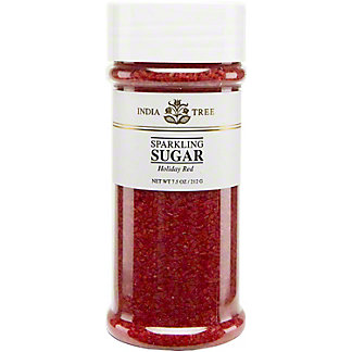 India Tree Sparkling Holiday Red Sugar,7.5 OZ
