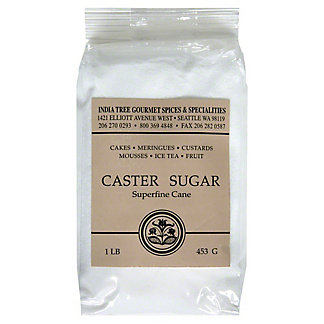 India Tree Sugar, Caster, Superfine Cane,1 LB
