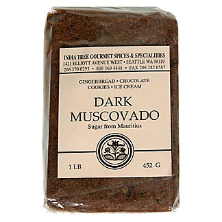 India Tree Dark Muscovado Sugar From Mauritius,1 LB