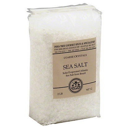 India Tree Coarse Sea Salt,2 LBS