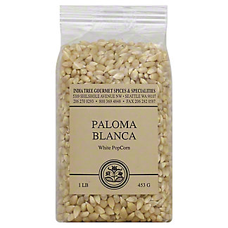 India Tree Paloma Blanca White Popcorn,1.00 lb