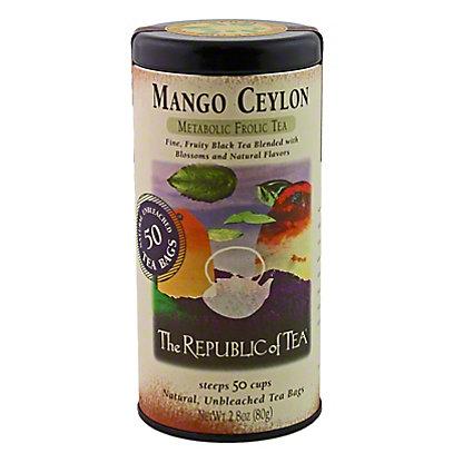 The Republic of Tea Mango Ceylon Black Tea Bags, 50 ct