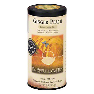 The Republic of Tea Ginger Peach Black Tea Bags,50 CT