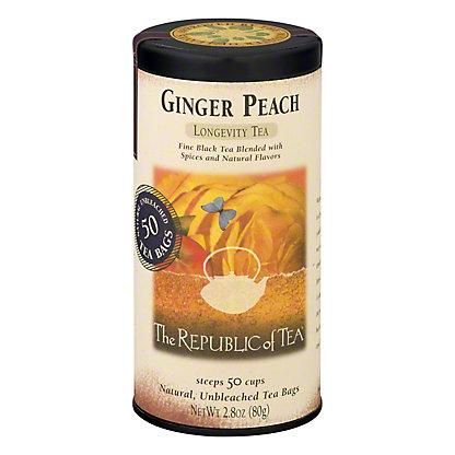 The Republic of Tea Ginger Peach Black Tea Bags,50 CT