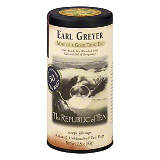 The Republic of Tea Earl Greyer Black Tea Bags,50 CT