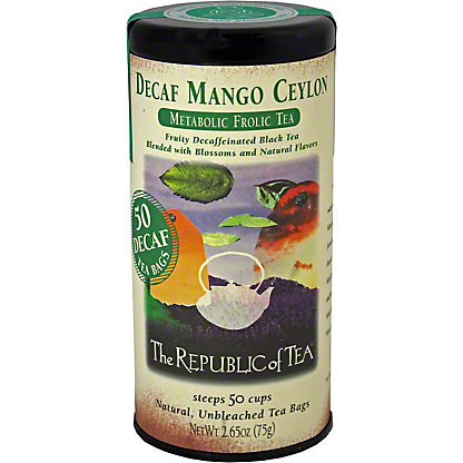 The Republic of Tea Decaff. Mango Ceylon Tea Bags, 50CT.
