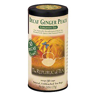 The Republic of Tea Decaf Ginger Peach Black Tea Bags,50 CT