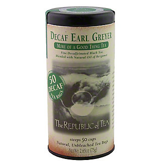 The Republic of Tea Decaf Earl Greyer Black Tea Bags, 50 ct