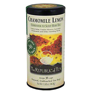The Republic of Tea Chamomile Lemon Herbal Tea Bags,36 CT