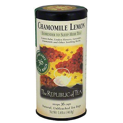 The Republic of Tea Chamomile Lemon Herbal Tea Bags,36 CT