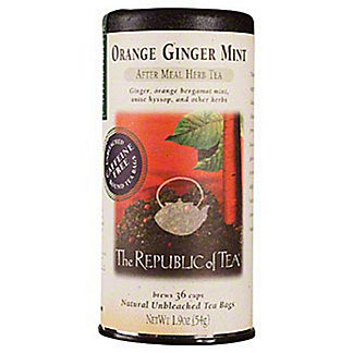 The Republic of Tea Orange Ginger Mint Herbal Tea Bags, 50 ct