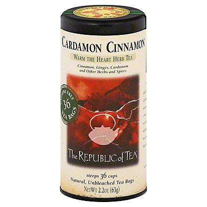 The Republic of Tea Cardamon Cinnamon Herbal Tea Bags,50 CT