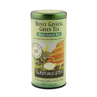 The Republic of Tea Honey Ginseng Green Tea Bags,50 CT
