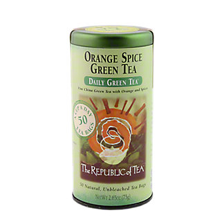 The Republic of Tea Orange Spice Green Tea Bags,50 CT