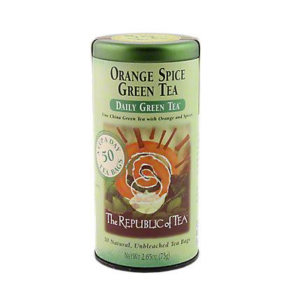 The Republic of Tea Orange Spice Green Tea Bags,50 CT