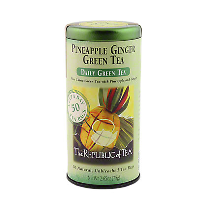 The Republic of Tea Pineapple Ginger Green Tea Bags, 50 ct