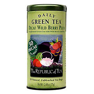 The Republic of Tea Decaf Wild Berry Plum Green Tea Bags, 50 ct