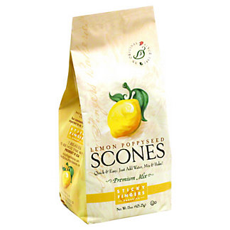 Sticky Fingers Bakeries Lemon Poppyseed Scones, 15 OZ