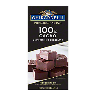 Ghirardelli 100% Cacao Unsweetened Chocolate Baking Bar,4 OZ