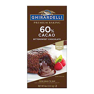 Ghirardelli 60% Cacao Bittersweet Chocolate Bar,4 OZ