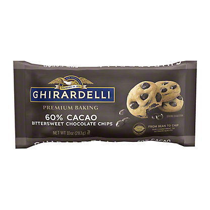 Ghirardelli 60% Cacao Bittersweet Chocolate Premium Baking Chips, 10 oz
