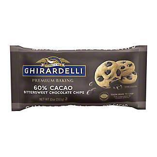 Ghirardelli 60% Cacao Bittersweet Chocolate Premium Baking Chips, 10 oz