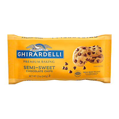 Ghirardelli Semi-Sweet Chocolate Premium Baking Chips, 12 oz