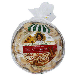 Sister Schuberts Warm & Serve Cinnamon Yeast Rolls,16 OZ