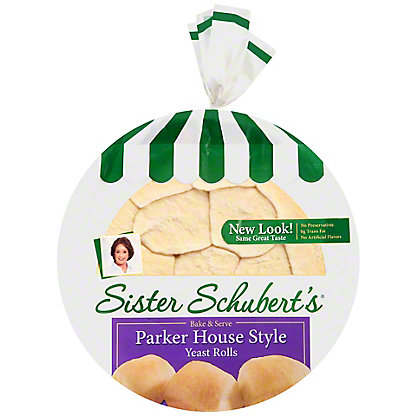 Sister Schuberts Warm & Serve Parker House Style Yeast Rolls, 11 oz
