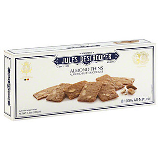 Jules Destrooper Almond Butter Cookie Thins,3.52 OZ