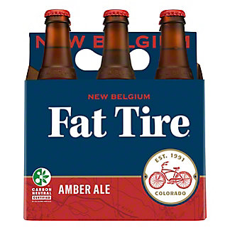 New Belgium Fat Tire Amber Ale 6 PK Bottles,12 oz