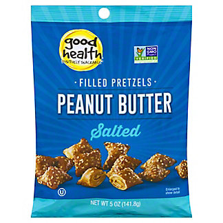 Good Health Salted Peanut Butter Filled Pretzels,5 OZ