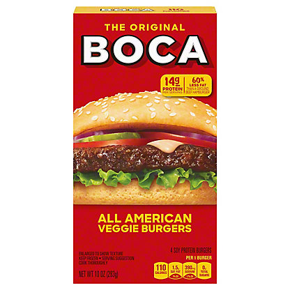 Boca Boca All American Flame Grilled Meatless Burgers,4.00 ea
