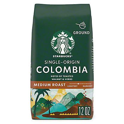 Starbucks Colombia Medium Roast Ground Coffee, 12 oz