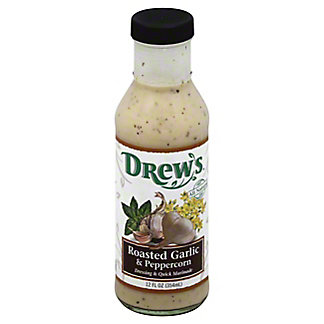 Drew's Roasted Garlic and Peppercorn Dressing and Quick Marinade, 12 oz