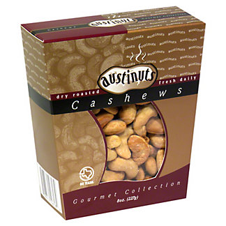 Austinuts Gourmet Collection Dry Roasted Cashews,8 OZ