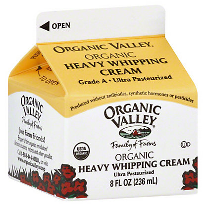 Organic Valley Heavy Whipped Cream,8 OZ.