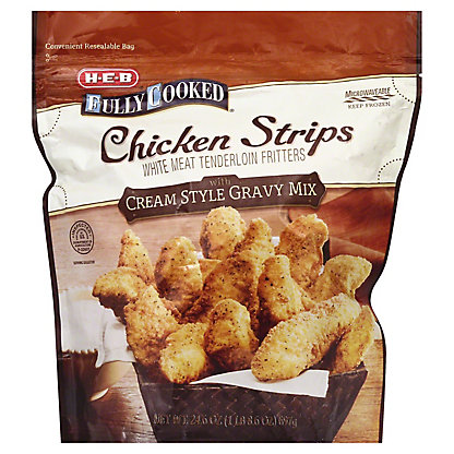 H-E-B Fully Cooked Breaded Chicken Strips, 24.6 oz