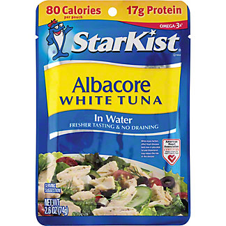 StarKist Albacore White Tuna in Water Pouch, 2.6 oz