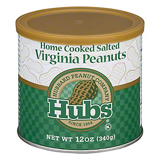 Hubs Home Cooked Salted Virginia Peanuts, 12 oz