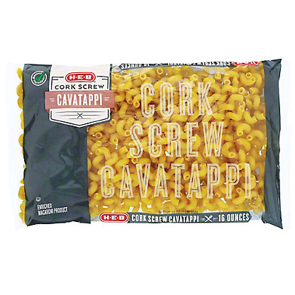 H-E-B Select Ingredients Cork Screw Cavatappi, 16 oz